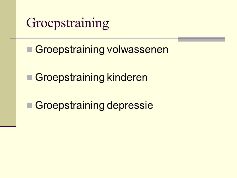 Groepstraining Groepstraining volwassenen Groepstraining kinderen