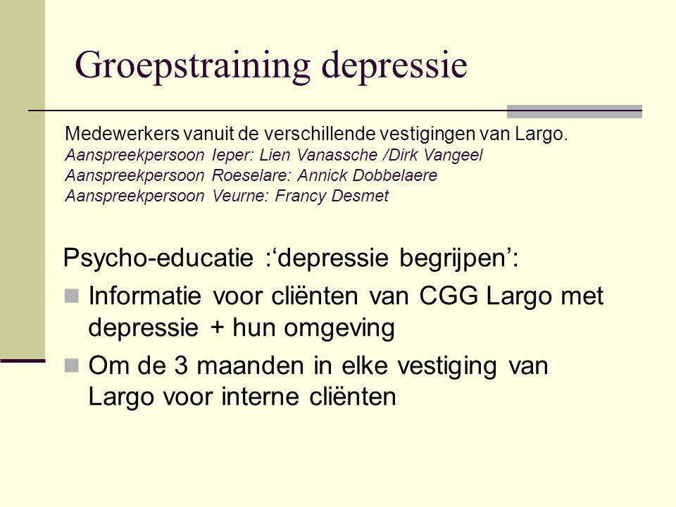 Groepstraining depressie