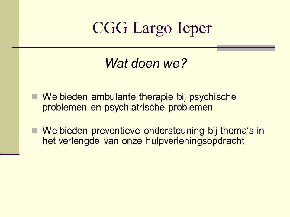CGG Largo Ieper Wat doen we
