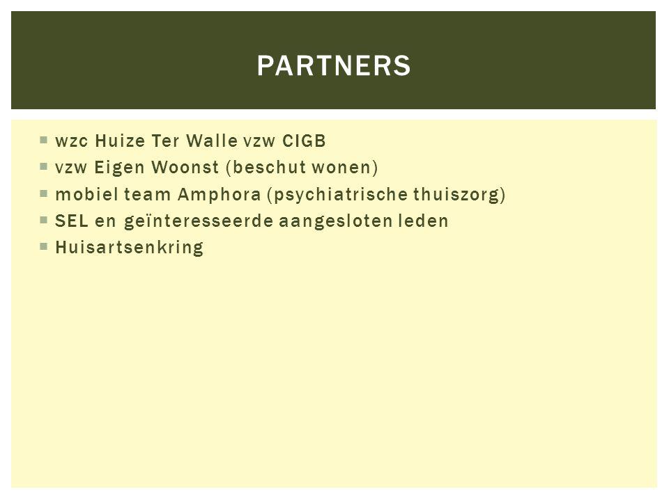 partners wzc Huize Ter Walle vzw CIGB vzw Eigen Woonst (beschut wonen)