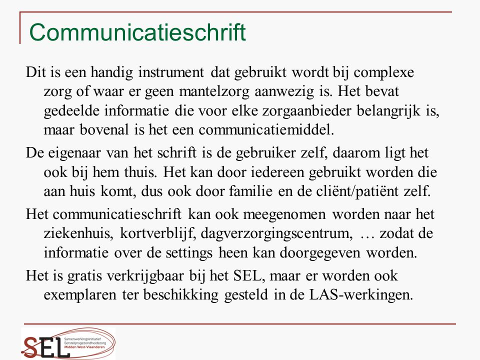 Communicatieschrift