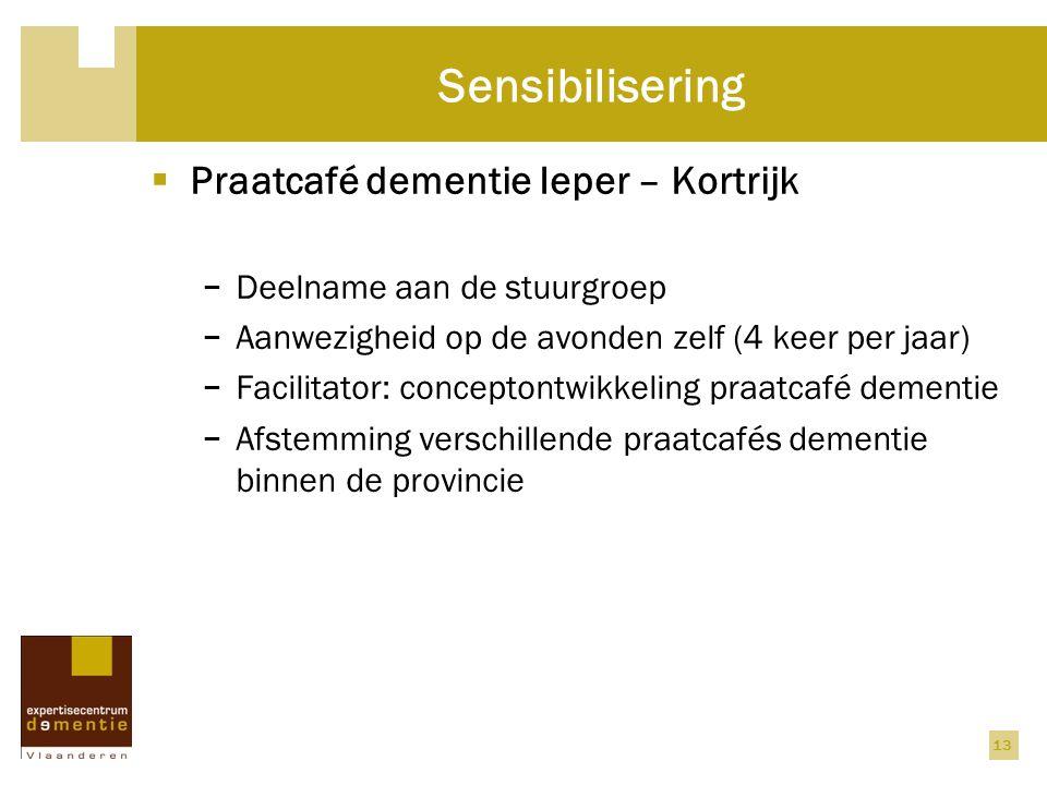 Sensibilisering Praatcafé dementie Ieper – Kortrijk