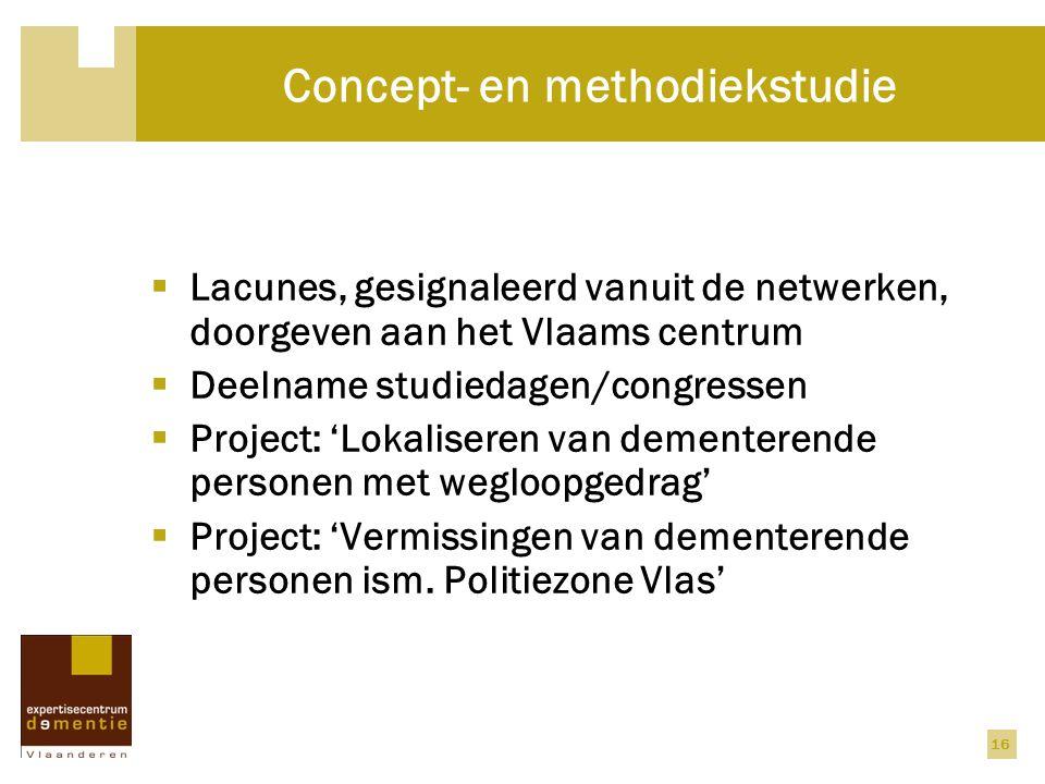 Concept- en methodiekstudie