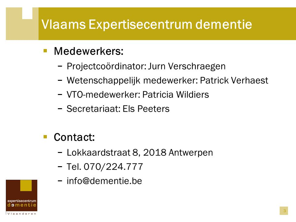 Vlaams Expertisecentrum dementie