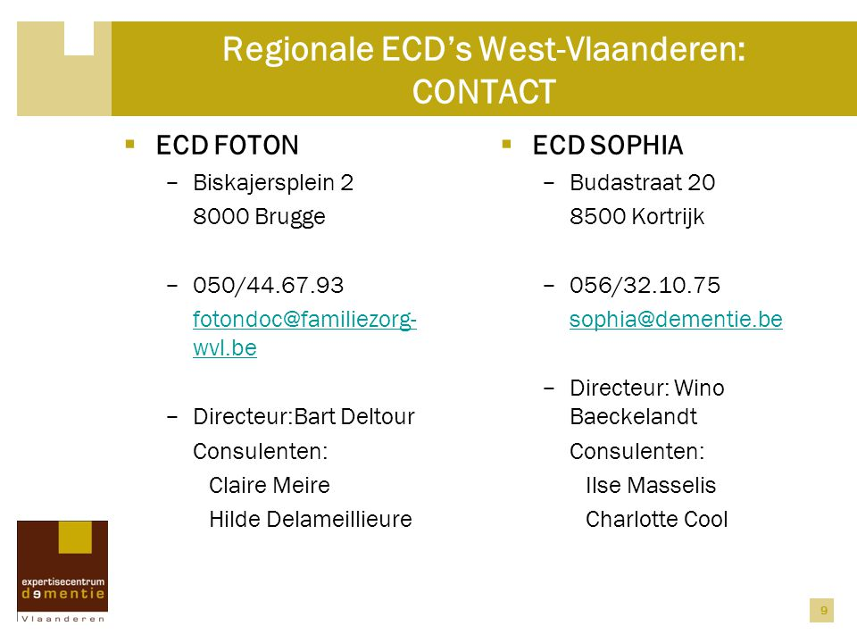 Regionale ECD's West-Vlaanderen: CONTACT