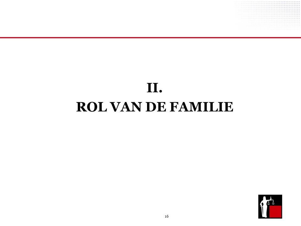 II. ROL VAN DE FAMILIE