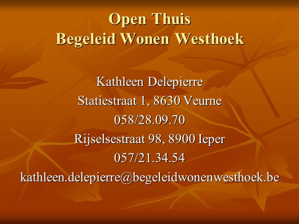 Open Thuis Begeleid Wonen Westhoek