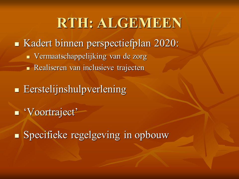 RTH: ALGEMEEN Kadert binnen perspectiefplan 2020: