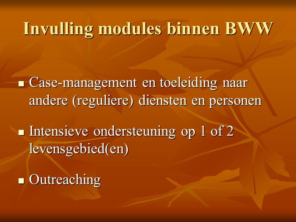 Invulling modules binnen BWW