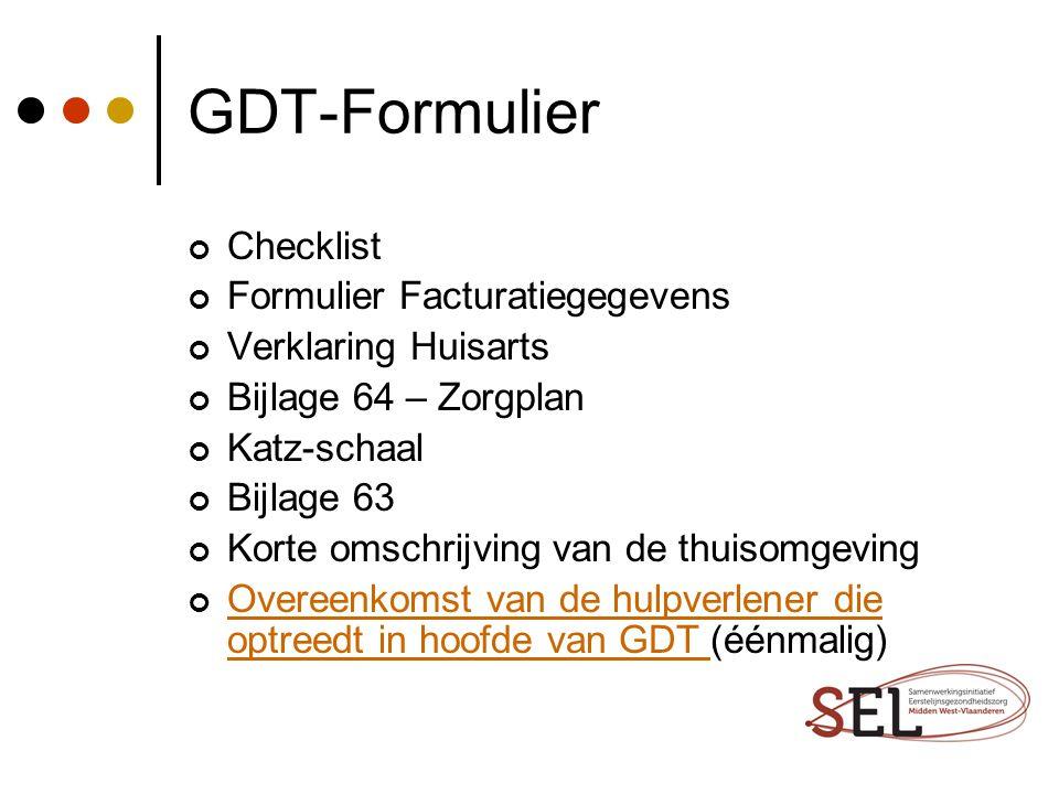 GDT-Formulier Checklist Formulier Facturatiegegevens
