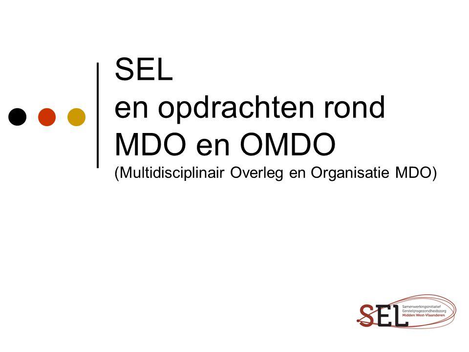 SEL en opdrachten rond MDO en OMDO (Multidisciplinair Overleg en Organisatie MDO)