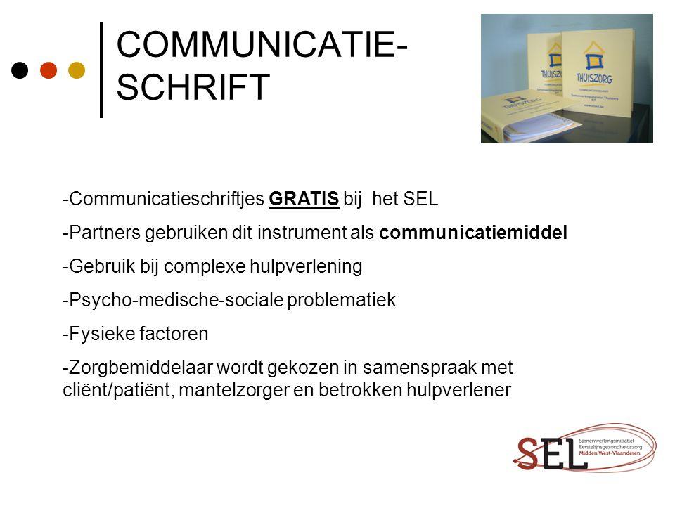COMMUNICATIE- SCHRIFT