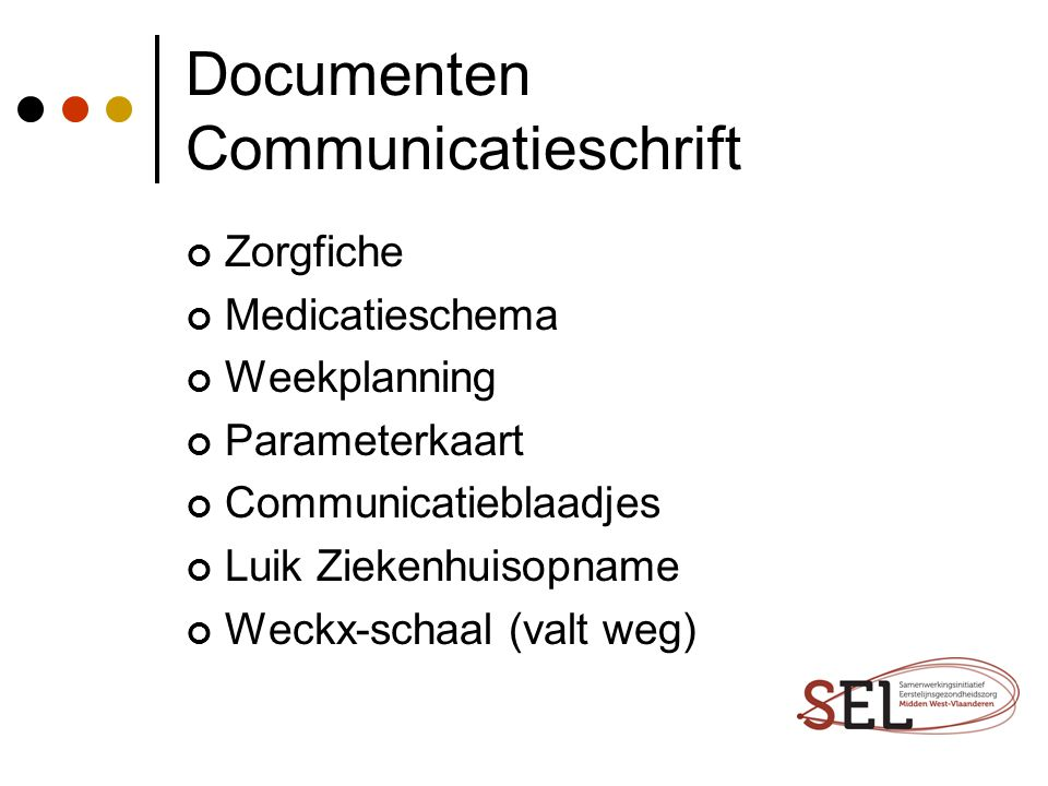 Documenten Communicatieschrift