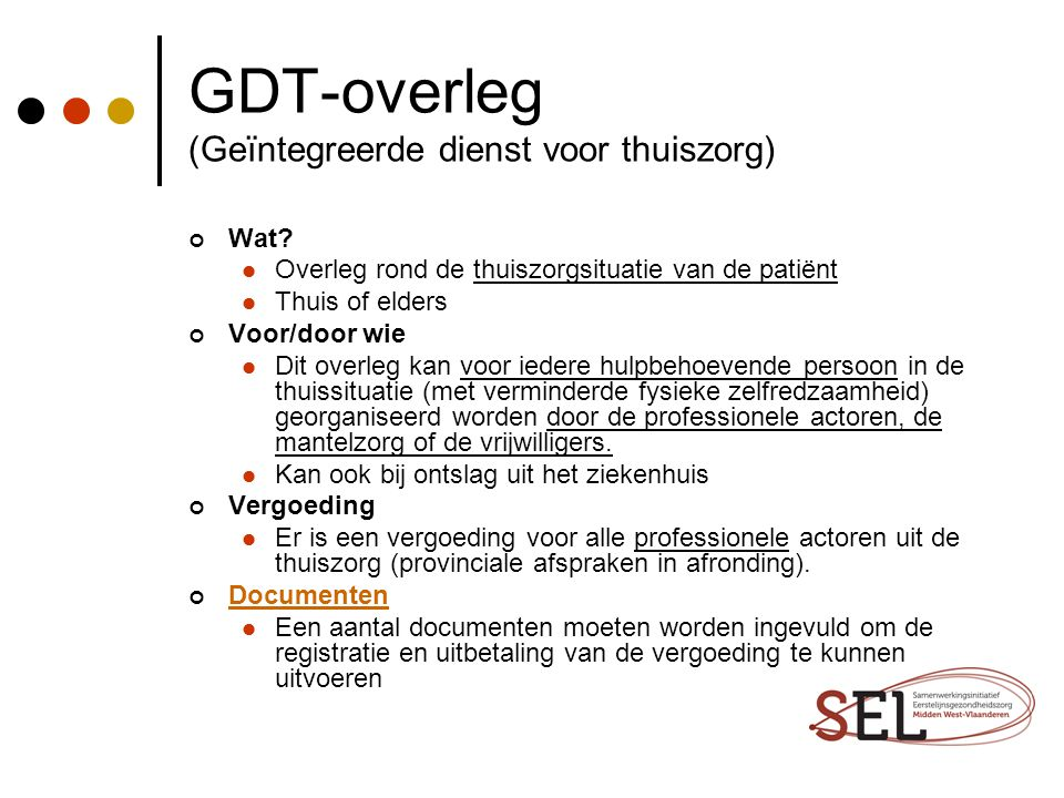 GDT-overleg (Geïntegreerde dienst voor thuiszorg)