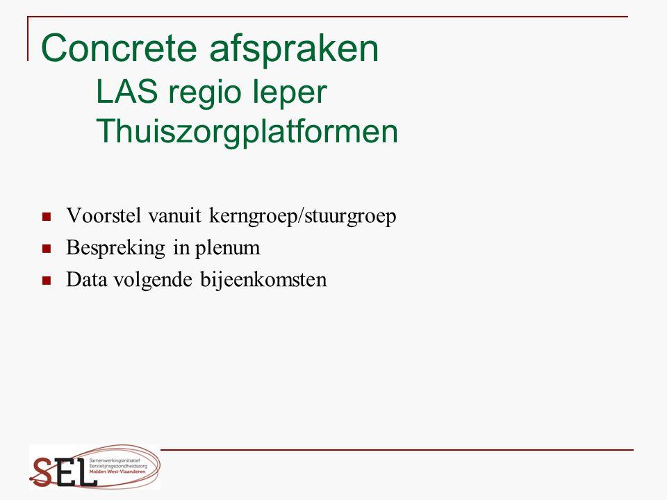 Concrete afspraken LAS regio Ieper Thuiszorgplatformen