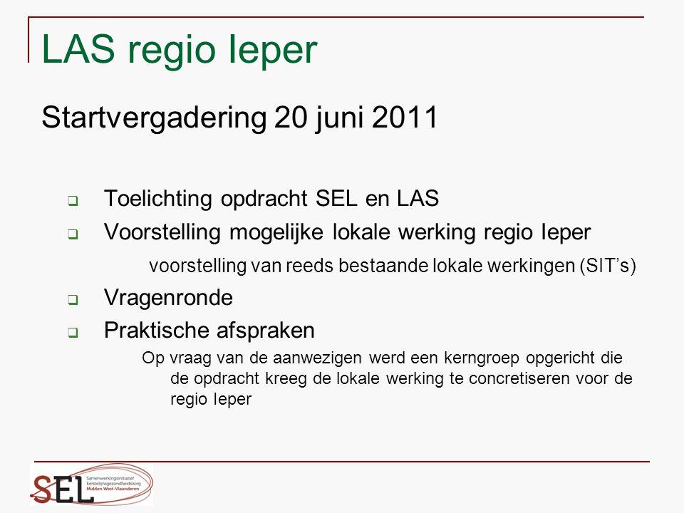 LAS regio Ieper Startvergadering 20 juni 2011