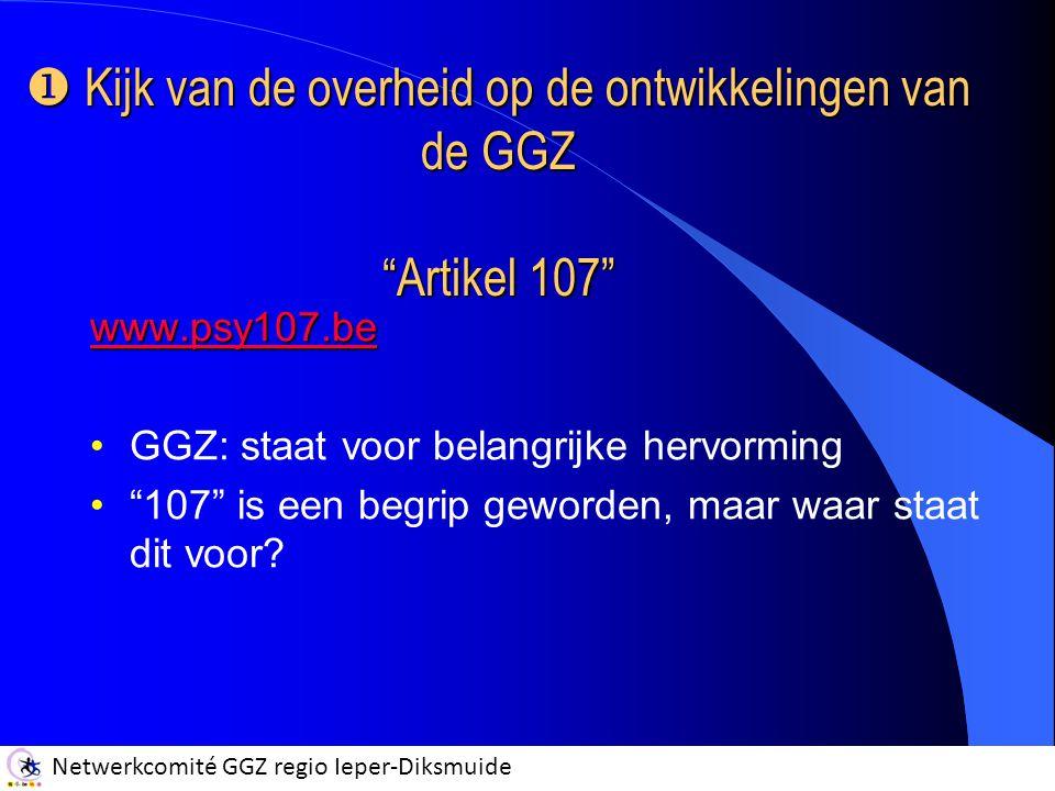 Kijk van de overheid op de ontwikkelingen van de GGZ Artikel 107