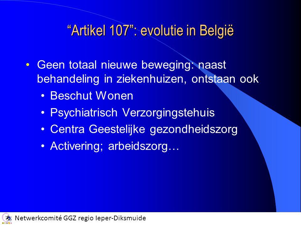 Artikel 107 : evolutie in België