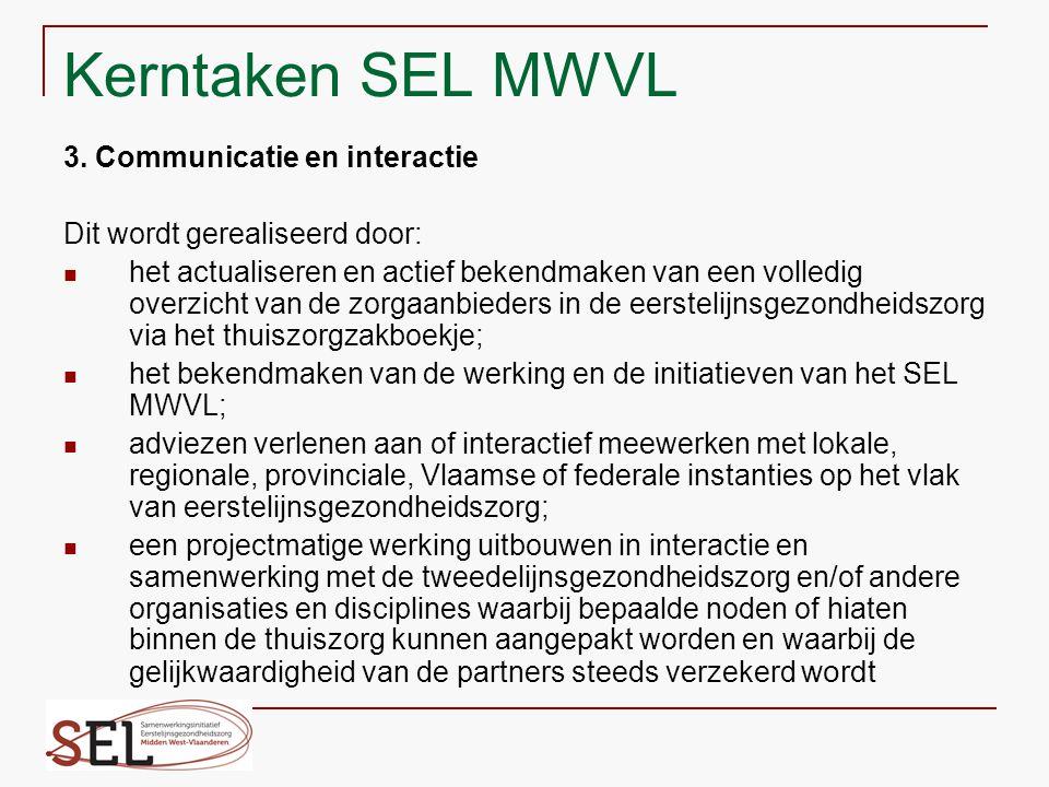 Kerntaken SEL MWVL 3. Communicatie en interactie