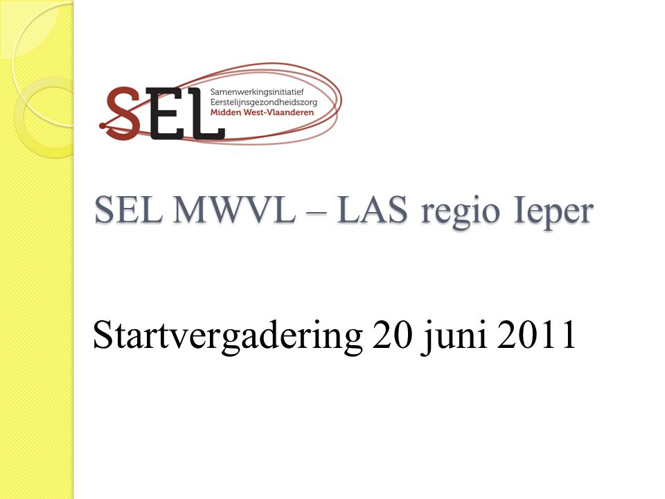 SEL MWVL – LAS regio Ieper
