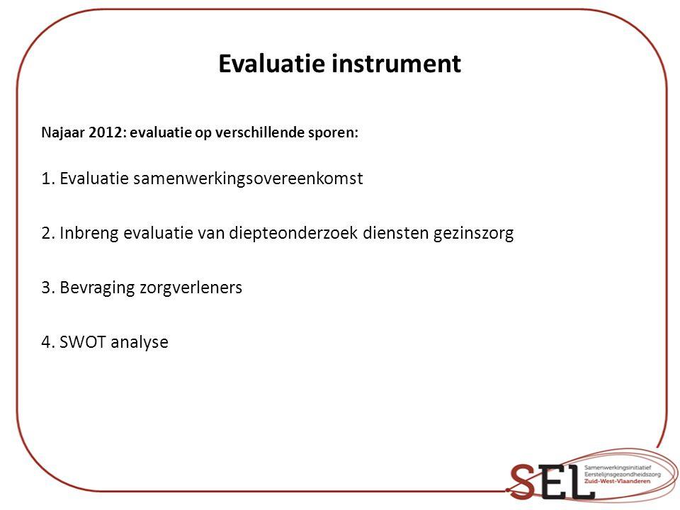 Evaluatie instrument 1. Evaluatie samenwerkingsovereenkomst