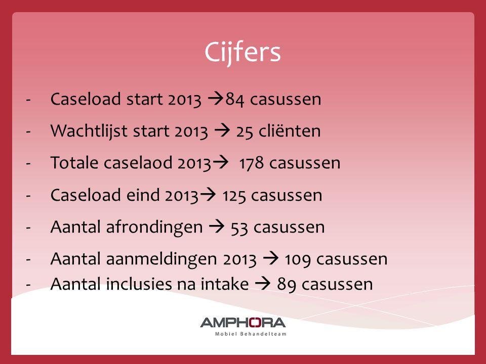 Cijfers Caseload start 2013 84 casussen