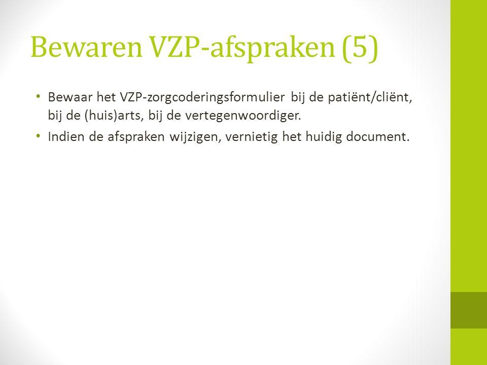 Bewaren VZP-afspraken (5)