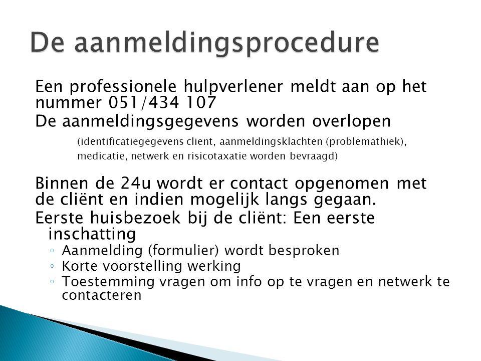 De aanmeldingsprocedure