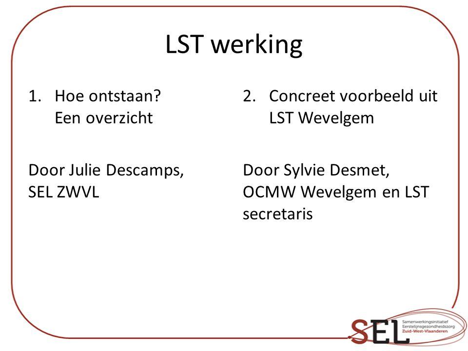 LST werking Hoe ontstaan Een overzicht Door Julie Descamps, SEL ZWVL