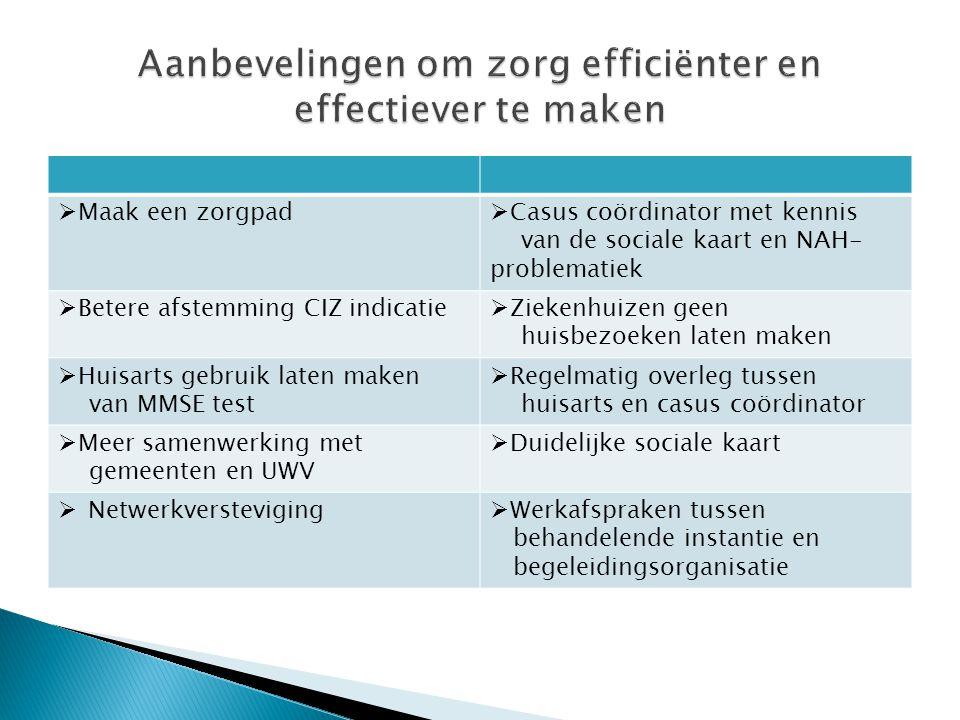 Aanbevelingen om zorg efficiënter en effectiever te maken