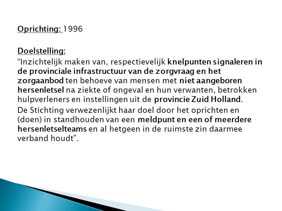 Oprichting: 1996 Doelstelling: