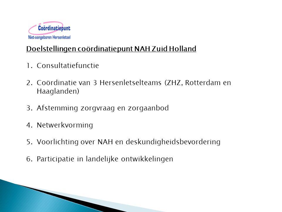 Doelstellingen coördinatiepunt NAH Zuid Holland