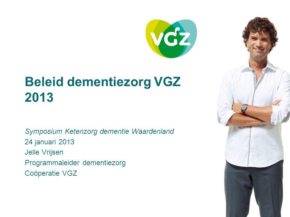 Beleid dementiezorg VGZ 2013