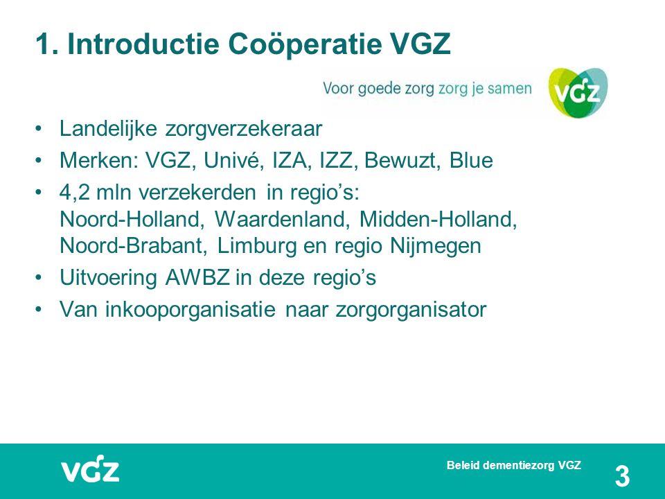 1. Introductie Coöperatie VGZ