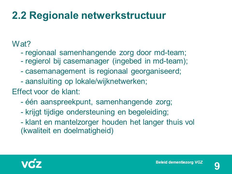 2.2 Regionale netwerkstructuur