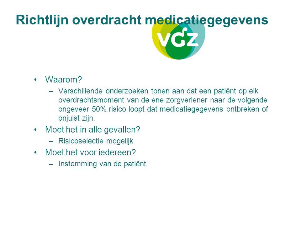 Richtlijn overdracht medicatiegegevens