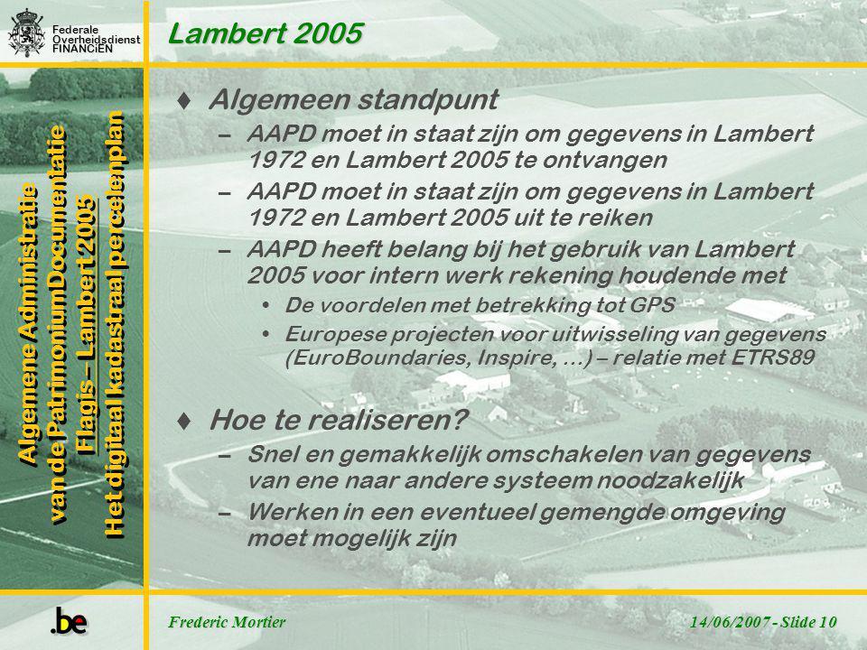 Lambert 2005 Algemeen standpunt Hoe te realiseren