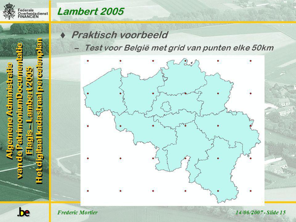 Lambert 2005 Praktisch voorbeeld