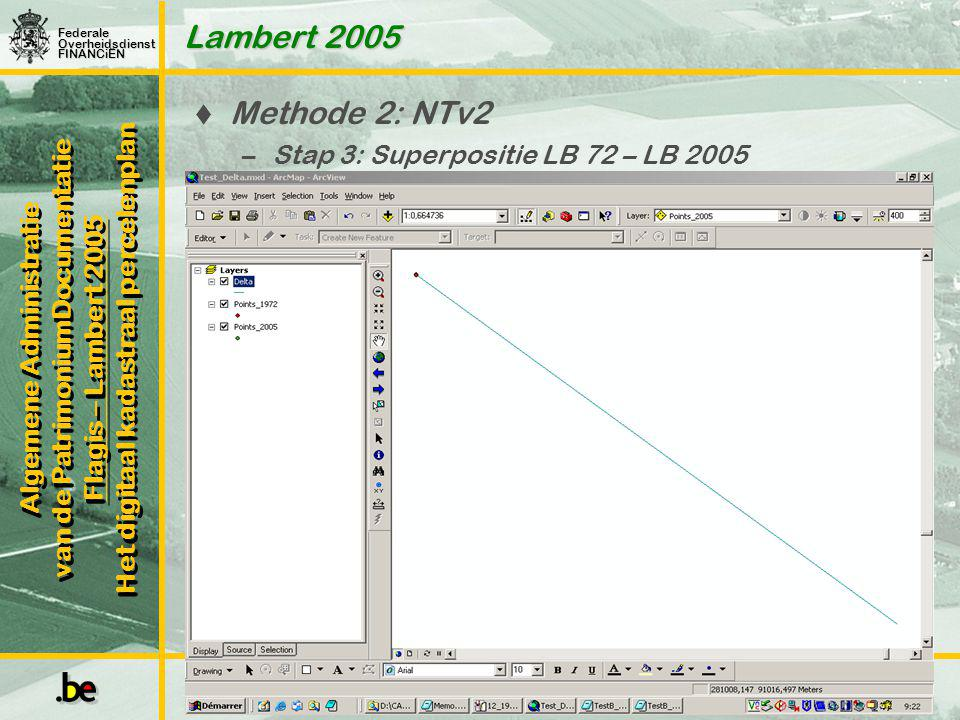 Lambert 2005 Methode 2: NTv2 Stap 3: Superpositie LB 72 – LB 2005