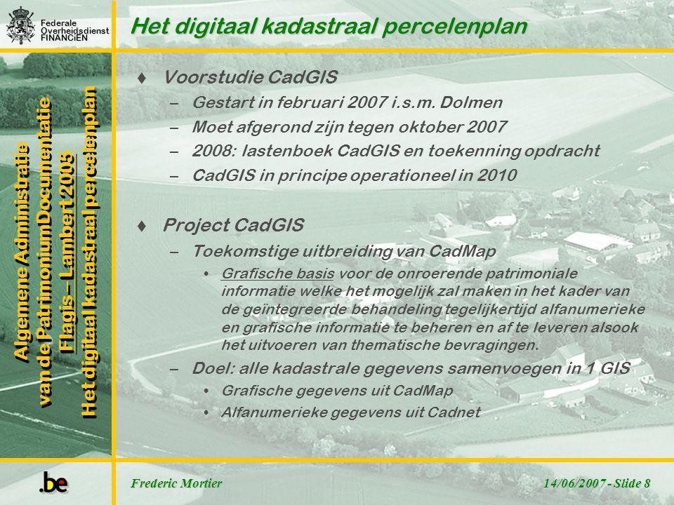Het digitaal kadastraal percelenplan