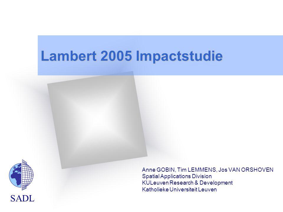 Lambert 2005 Impactstudie Anne GOBIN, Tim LEMMENS, Jos VAN ORSHOVEN