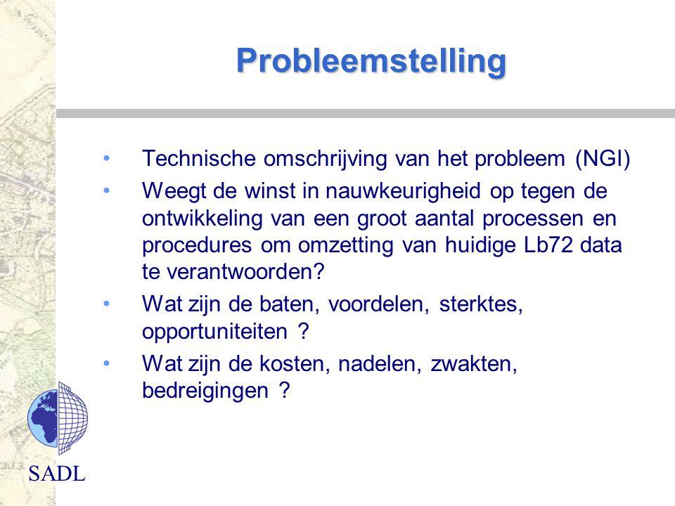 Probleemstelling Technische omschrijving van het probleem (NGI)
