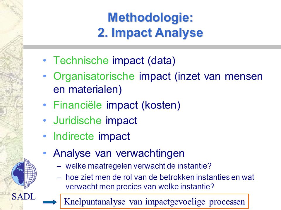 Methodologie: 2. Impact Analyse