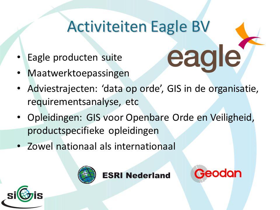 Activiteiten Eagle BV Eagle producten suite Maatwerktoepassingen
