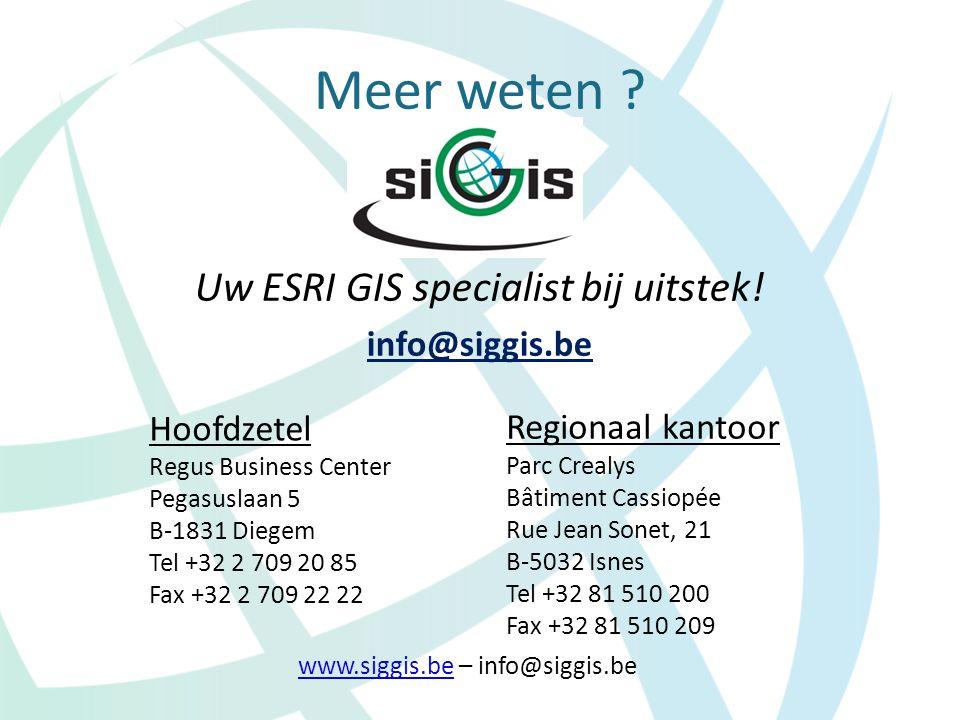 Uw ESRI GIS specialist bij uitstek!
