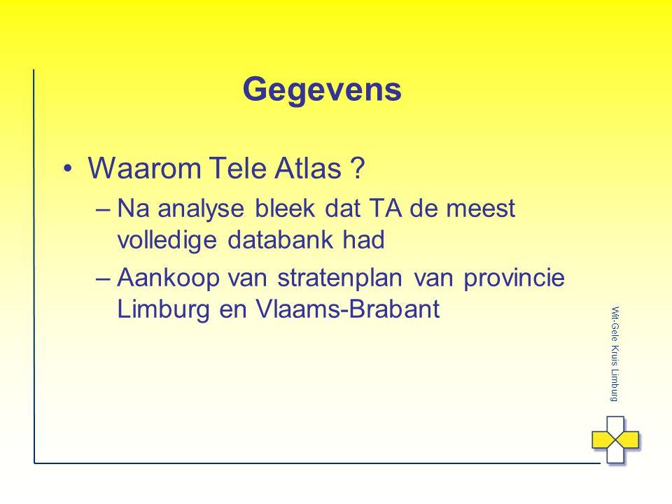 Gegevens Waarom Tele Atlas