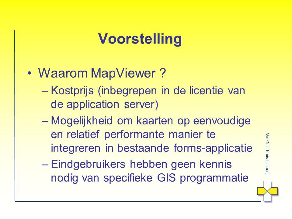 Voorstelling Waarom MapViewer