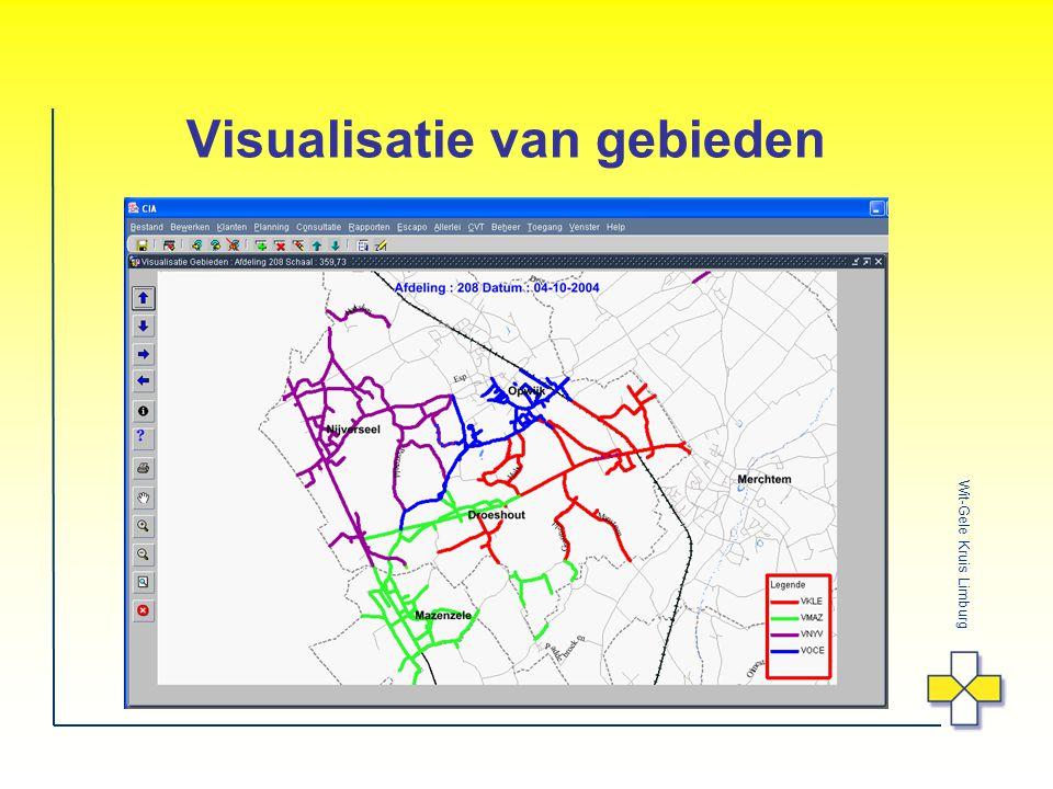 Visualisatie van gebieden