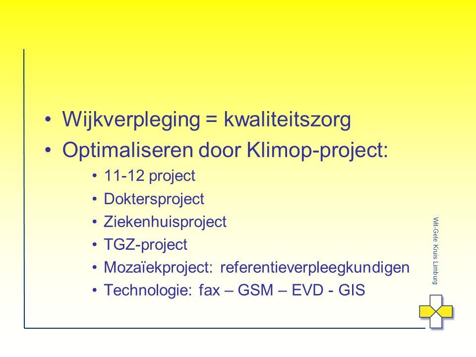 Wijkverpleging = kwaliteitszorg Optimaliseren door Klimop-project: