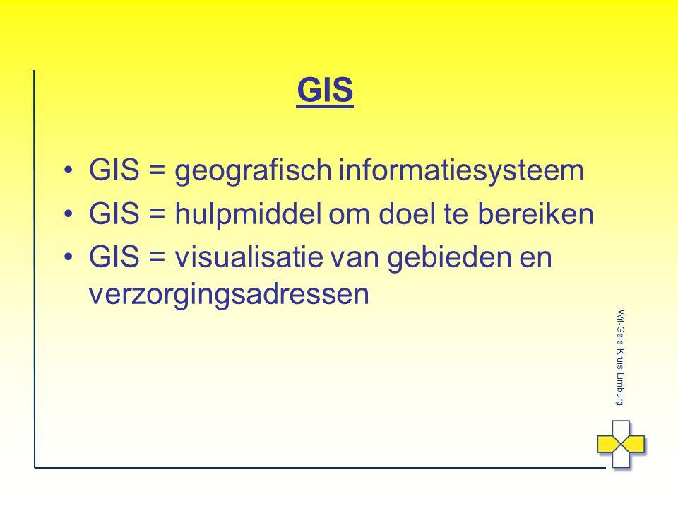 GIS GIS = geografisch informatiesysteem